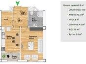 2 otaqlı yeni tikili - 20 Yanvar m. - 50 m² (3)