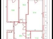 3 otaqlı yeni tikili - Yasamal q. - 115 m² (8)