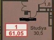 1 otaqlı yeni tikili - Elmlər Akademiyası m. - 61.5 m² (2)