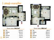 1 otaqlı yeni tikili - Yasamal r. - 64.5 m² (4)