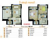 3 otaqlı yeni tikili - İnşaatçılar m. - 135 m² (3)