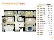 5 otaqlı yeni tikili - İnşaatçılar m. - 213 m² (2)